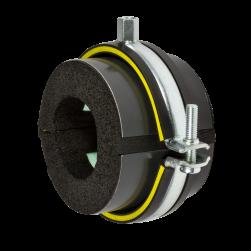 Collier coquille ISO TypeH,M,T Type H - Epaisseur 9,5 - 16 mm | DÄMMGULAST® jaune | 10 - 13,5 mm