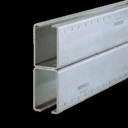 Rail d'installation MPC 40/120/3,0 H | 6640 mm | galvanisée à chaud
